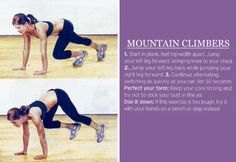 I used to hate this exercise so much, but now I love it!  I exert a lot of energy and feel so accomplished!