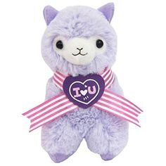 """Llama Sweet Heart Alpaca 12"""" Prime Plush (Purple) -- Be sure to check out this awesome product. (This is an affiliate link) #StuffedAnimalsPlushToys"""