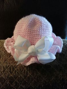 Baby+Girl+Crochet+Hats | Crocheted hat for baby girl...