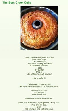 from Cooking for You - recipes - Funnel Cake Cake Mix Recipes, Baking Recipes, Dessert Recipes, Just Desserts, Delicious Desserts, Yummy Food, Crack Cake, Biscuits, Sweet Cakes