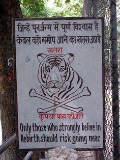 Passive Aggressive Warning Sign - haha!