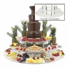 food risers buffet   Buffet Enhancements Chocolate Fountain Display Riser   Wayfair