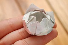 This origami lotus flower is faster less complicated and you only how to fold an origami lotus flower video and photos mightylinksfo