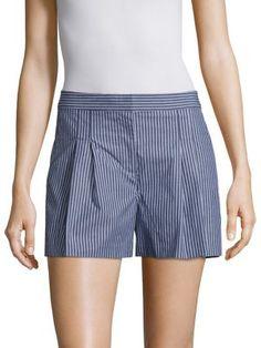 MICHAEL MICHAEL KORS Pane Striped Pleated Shorts. #michaelmichaelkors #cloth #shorts