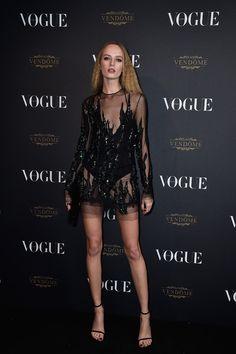 Daria Strokous soirée Vogue Paris http://www.vogue.fr/mode/inspirations/diaporama/la-soire-des-95-ans-de-vogue-paris/22911#daria-strokous