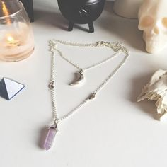 Triple moon layered necklace in amethyst  available on our store ☯☯☯☯☯☯☯☯☯☯☯☯☯☯☯☯☯☯☯☯☯☯☯ ↞  SHOPMOONCHILD.CO.UK ↠ ❉  We ship worldwide daily ❉ ☪  Tag customer photos #shopmoonchild ☪ ☯☯☯☯☯☯☯☯☯☯☯☯☯☯☯☯☯☯☯☯☯☯☯ #grunge #goth #pentagram #pentacle #galaxy #quartz #crystal #pastelgoth #moon #hamsa #velvet #choker #necklace #boho #bohemian #tibetan #witch #elephant #alien #yinyang #opalite #rainbowmoonstone #ethnic #mens #onyx #mensrings
