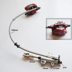 Rear disc Brake Assembly Master cylinder caliper Chinese ATV Quad Bike 150 200 250 CC TaoTao Buyang Coolsport Lifan Kazuma SUNL $40.00