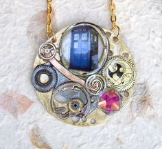"Doctor Who Necklace ""Time Warp"" by TimeMachineJewelry on Etsy"