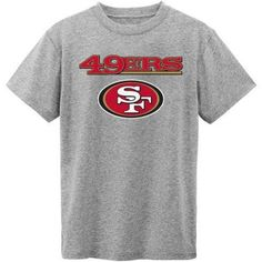 NFL San Francisco 49ers Short Sleeve Grey Tee, Size: XL, Gray