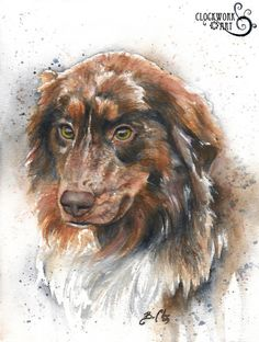 To own a dog like this Nostalgia - Braden Duncan Fine Art Painting Fur, Love Painting, Painting & Drawing, Watercolor Animals, Watercolor Art, Animal Paintings, Dog Art, Pet Portraits, Art Gallery