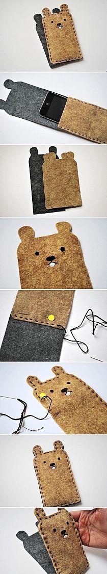 Bear cell phone case