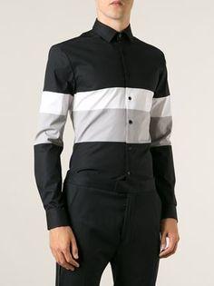 Les Hommes Black Stripe Shirt - Gigi Tropea - Farfetch.com