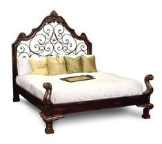 FRANCESCA BED - QUEEN SIZE Dimensions:   w 64 X H 80 x Depth 87 Finish:   as shown Material Used:  Wood Distributor:   Peninsula Home Collection Country of Origin:  Argentina, Chili, Peru Ship Method: �White Glove Delivery�