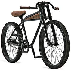 Autum's Epitaph ($2950) is a two wheeled beast with twin mounted tires on a sleek, powercoated black frame with plush, hand crafted aged leather turn & tuck seat and inserts, and hand cut & laced grips. The bike will be available in a limited run of 12 examples.