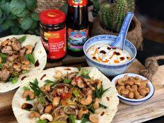 Chicken Wraps, Thai Peanut Chicken, Ramen Noodle Soup, Steamed Eggs, Asian Recipes, Ethnic Recipes, Tortilla Wraps, Fajitas, Pitta