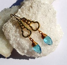 22k Gold Vermeil Multi Color Gemstone Earrings by RareGemsNJewels