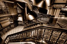 """The Grand Staircase* of Sydneys Grand Queen Victoria Building"