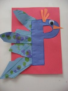 P is for Peacock  Note: Maybe use purple (Purple Peacock) for color