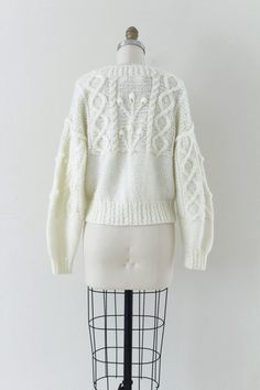 popcorn knit sweater / cable knit sweater / by RellikVintageCo