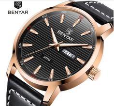 06fad2ebe BENYAR Fashion Casual Quartz Mens Watches Men Week Date Analog Dispaly  Waterproof Leather Male Wrist Watch Relogio Masculino.