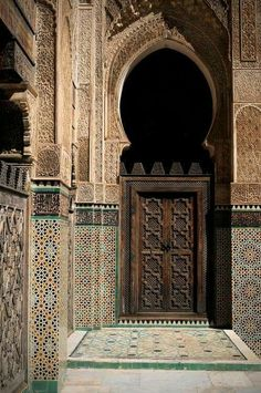 Medersa Bou Inania - the finest of Fez's theological colleges, Fes, Maroc Moroccan Design, Moroccan Decor, Moroccan Style, Islamic Architecture, Art And Architecture, Fez Morocco, Mekka, Moroccan Interiors, Marrakesh