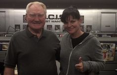 """Today was take-my-dad-to-work day at NCIS :)"" ~ Pauley Perrette"