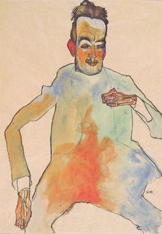 Egon Schiele. The Cellist, 1910.