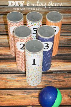Make your own summer fun with this DIY Bowling Game!
