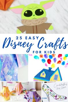 25 Disney activities for kids. These easy craft ideas are so fun and this post includes tons of free Disney printables. indoor activities for kids Disney Crafts For Kids, Easy Crafts For Kids, Diy Arts And Crafts, Summer Crafts, Toddler Crafts, Preschool Crafts, Fun Crafts, Disney Games For Kids, Summer Diy
