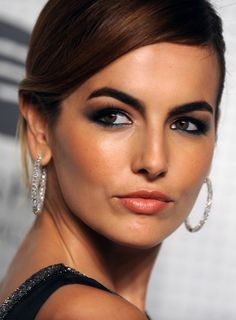 Camilla Belle in Dior black evening gown with sweep train | Guggenheim International Gala Dinner Made Possible by Dior -Nov. 6 2014 | make-up