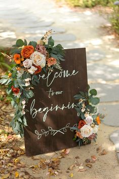 Boho Wedding Decorations, Fall Wedding Centerpieces, Rustic Wedding Colors, Rustic Bohemian Wedding, Diy Wedding Flowers, Orange Wedding Decor, Fall Wedding Colors, Diy Wedding Signs, Western Wedding Ideas