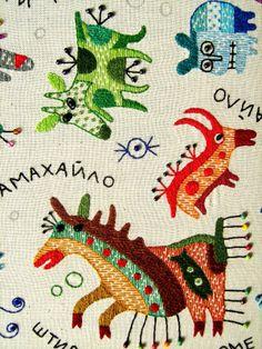 Текстильная работы (85x95sm.) Shtyry tyky. на Behance