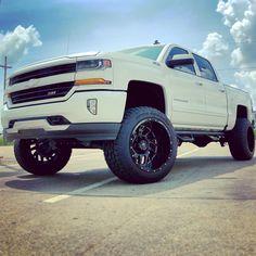 Lowered Trucks, Jacked Up Trucks, New Trucks, Custom Trucks, Chevy Trucks, Custom Cars, 2016 Silverado Z71, Chevrolet Silverado, Truck Rims