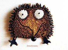 Cheerful brooches by Helen Kolomoets | Beads Magic