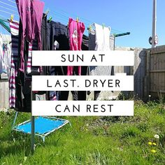 I love the Sun! Dry days are the best time for clothes washing #mumlife #chores #washingday