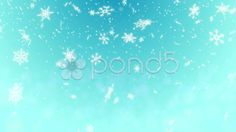Snow Shape Loop Light Blue background - video