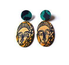 Fyah Drops Stud Earrings by InIVibez on Etsy