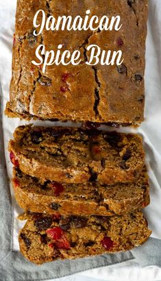 Jamaican Spice bun is a sweet bread that is very popular in Jamaica, It is moist, with warm spices and plump dried fruits. I'm so excited to share with you my vegan, gluten-free version of this Jamaican staple. Baking Recipes, Cake Recipes, Dessert Recipes, Loaf Recipes, Cleaning Recipes, Fruit Recipes, Recipies, Best Bread Recipe, Banana Bread Recipes