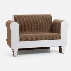 Time to spruce up the den with something fun, unique, and green. Look no farther than Kubedesign's beautiful and environmentally friendly Clorindo Sofa. Using recycled materials turned into corrugated