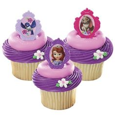 Sofia The First Cupcake Rings (8), FREE shipping offer, 50% off ...