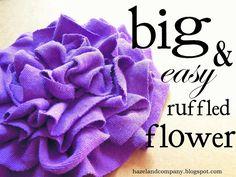 hazel and company: big & easy ruffled flower tutorial