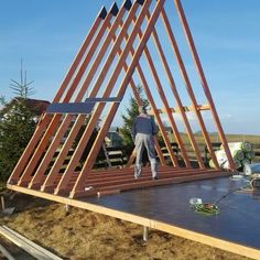 Small A-Frame House in Romanian Carpathia – Part 1 - Small Wooden House Plans . - Home Decorations Ideas Building A Tiny House, Tiny House Cabin, Cabin Homes, Wooden House Plans, Small Wooden House, A Frame Cabin Plans, Cabin Floor Plans, A Frame Floor Plans, Cabin Design