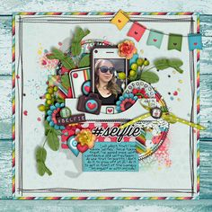 SOSELFIE Mini Kit by Kristin Aagard Designs | SOSELFIE - Stitch Pack {FB Free} by Kristin Aagard Designs | So Selfie by Little Green Frog Designs | The Lynnette font