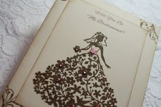 Vintage Style Will You Be My Bridesmaid Card  Bride  by wkburden, $3.25