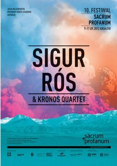 Beautiful poster design for Sigur Ros