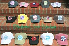 Youth-sized Embroidered Patch Hats and Visors, $18 each, from Feathered Nest Boutique on Etsy