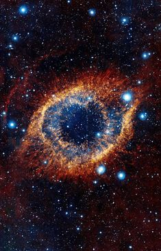 Hubble Space Telescope - The Helix Nebula in the constellation of Aquarius about 700 light-years away, spanning about 0.8 parsecs - 2.5 light-years