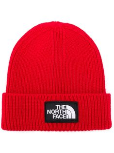 469d9b96047 THE NORTH FACE THE NORTH FACE LOGO PATCH BEANIE - RED.  thenorthface