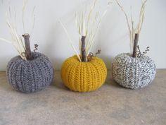Fall Decor Pumpkin Decorations Crocheted Pumpkins Autumn by dlf724, $18.00