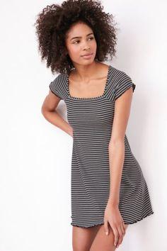 BDG Gretel Striped Square-Neck Mini Dress - Urban Outfitters